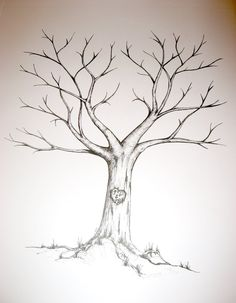 Free Wedding Fingerprint Tree Template | Thai & Jemma's wedding tree. Feb 2011