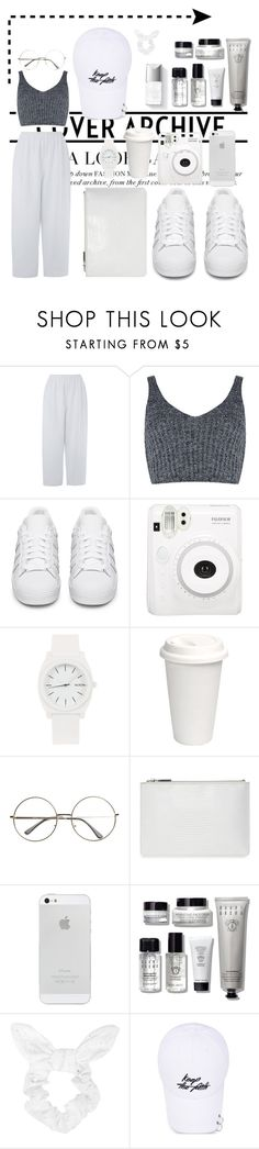 """Untitled #28"" by evelina-thr on Polyvore featuring Eskandar, J.O.A., adidas Originals, Fuji, Nixon, Couture Colour, Whistles, Bobbi Brown Cosmetics and Topshop"