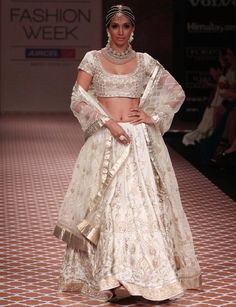 LFW: Preeti Desai dazzles in white lehenga choli for Anita Dongre: Wonder Woman