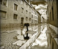 Image by Erik Johansson - Swedish photographer - brilliant Photoshop 3d Street Art, Surreal Photos, Surreal Art, Photomontage, Erik Johansson Photography, Cool Photoshop, Photoshop Software, Photo Retouching, Photo Editing