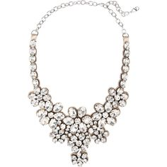 Valentino Floral glass crystal necklace ($845) found on Polyvore
