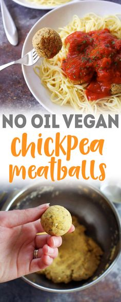 Vegan Chickpea Meatball recipe - have these tasty veggie meatballs for dinner with pasta or enjoy them for lunch! Easy to meal prep!