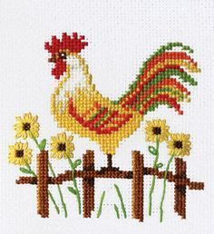 Rooster cross stitch.