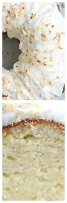 Incredibly moist, dense, this Coconut Bundt Cake is out of this world good! This easy, 5 step cake will completely knock your socks off! Coconut Recipes, Baking Recipes, Cake Recipes, Dessert Recipes, Coconut Cakes, Almond Pound Cakes, Lemon Cakes, Coconut Sugar, Coconut Cream
