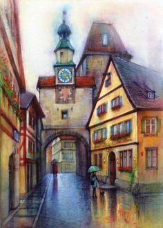 Clock Tower (Rothenburg) - art