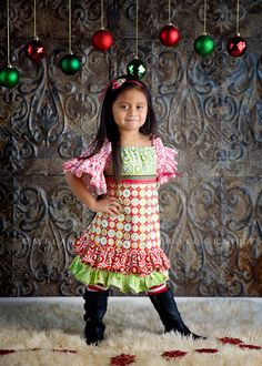 Makenzie Christmas Dress by Outtahand on Etsy