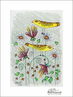 Claire Renaud, Artiste: Les petits jaunes