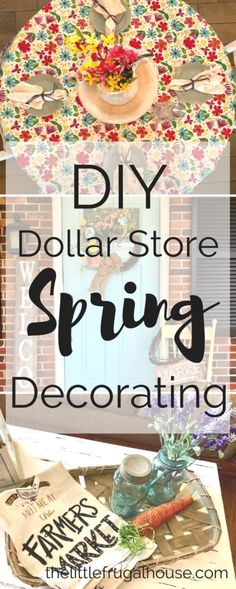Brighten up your space for Spring with light colors and everything Spring! This … Beautify your room for spring with bright colors and all that is spring! This DIY dollar store spring decorating post has perfect inspiration! Diy House Projects, Weekend Projects, Dollar Store Crafts, Dollar Stores, Dollar Store Decorating, Diy Crafts Vintage, Dollar Tree Organization, Dollar Tree Decor, Spring Tree
