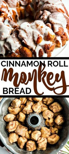 Two of my all time favorite easy breakfast recipes to be cinnamon rolls and monkey bread. So this cinnamon roll monkey bread recipe was a no brainer for me. With only 5 ingredients, this recipe couldn Cinnamon Roll Monkey Bread, Cinnamon Roll Casserole, Monkey Bread Easy, Easy Cinnamon Rolls, Biscuit Cinnamon Rolls, Easy Bread, Ciabatta, Dessert Bread, Dessert Recipes