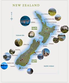 New Zealand Tourist Map