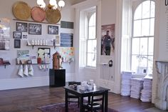 """Love how the objects are displayed out in the open, but still set apart.  Jane Addams Hull-House Museum in Chicago """"Unfinished Business: 21st Century Home Economics"""" Exhibit (picture fromhttp://news.uic.edu/hull-house-museum-receives-national-award-for-creativity)"""