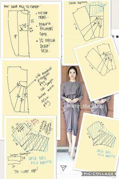 Kaftan best seller pattern For happy eid eve 😍 Order by line Vestido Batik, Kaftan Batik, Batik Dress, Batik Kebaya, Batik Fashion, Fashion Sewing, Diy Fashion, Dress Sewing Patterns, Blouse Patterns