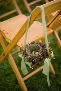 bird nest chair decor ~ this could be very pretty and birds, their nest, and eggs stand for so many things.