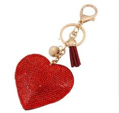 s Sac Às Couvrir Llaveros Mujer Porte-clés Monchichi Gland Porte-clés Coeur Chaveiro Carro 15 Leather Tassel, Leather Jewelry, Leather Key, Equestrian Jewelry, Red Rhinestone, Girl Gifts, Jewelry Sets, Women Accessories, Clothing Accessories