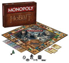 MONOPOLY: THE HOBBIT Trilogy Edition Family Board Game