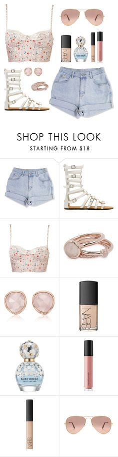 """ToBeOrNoT26e"" by m-phil ❤ liked on Polyvore featuring Lola Rose, Monica Vinader, NARS Cosmetics, Marc Jacobs, Bare Escentuals, Ray-Ban, Summer, gladiatorsandals, summerfashion and contestentry"