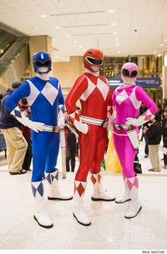Red, Blue, and Pink Rangers, Power Rangers photo by Anna Goellner.