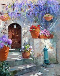 Maria Serafina Tribunella, 1955   Tuscan Garden   Tutt'Art@   Pittura * Scultura * Poesia * Musica  