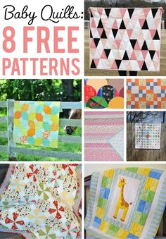 These free baby quilt patterns are the perfect gift for any little one! Check out 8 fun, easy-to-sew patterns, and sew a quilt they'll always cherish.