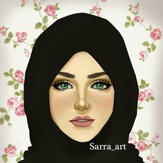 Hijab girl illustration