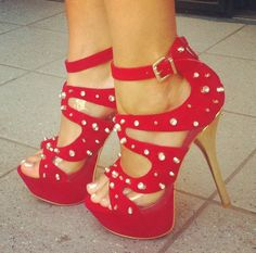 Cute Red Heels!!! | Fashion Junkie!!! | Pinterest | Heels Red and