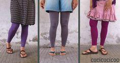 Trasformare magliette a maniche lunghe in leggings - refashion tutorial