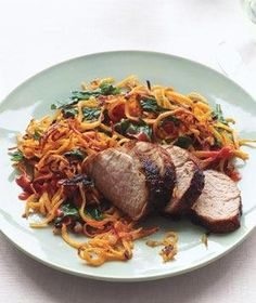Chili-Glazed Pork With Sweet Potato Hash | RealSimple.com