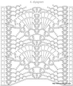 Crochet motif chart pattern stitch crochet pattern