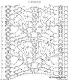 Crochet motif chart pattern stitch crochet pattern
