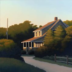 Jim Holland (1955 - Present), American Artist - Tucked Away - 36 x 36