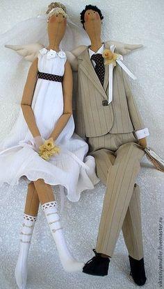 Куклы Тильды ручной работы. Ярмарка Мастеров - ручная работа куклы тильды ручной работы Жених и невеста. Handmade.