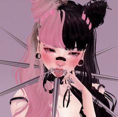 imvu Virtual Girl, Virtual Fashion, Emo Princess, Kawaii Goth, Gothic Anime, Goth Aesthetic, Cybergoth, Cute Icons, Imvu