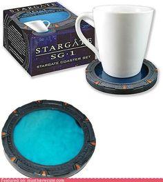 Stargate coaster set. Me want!