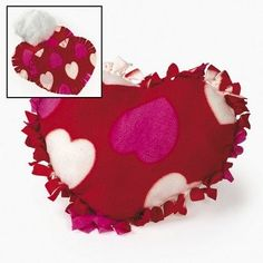 Check this out on our store Fleece Valentine Heart Tied Pillow Craft Kit - Crafts for Kids & Novelty Crafts Check it out here! Valentine Crafts For Kids, Valentine Heart, Valentines, Kids Crafts, Tie Pillows, Sewing Pillows, Dog Cushions, Burlap Pillows, Heart Shapes Template