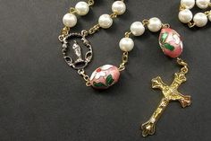 e9c2ea4e610d1 48 Best Rosary Necklace images in 2019 | Rosaries, Prayer beads ...