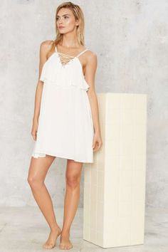 Get Loose Lace Up Dress - Clothes | Swim Shop | Day | LWD | Cover Ups | Swimwear