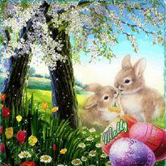 GIFS HERMOSOS: huevos motivos de pascua encontrados en la web Beautiful Gif, Animals Beautiful, Easter Art, Easter Eggs, Gifs, Happy Easter Gif, Holiday Gif, Easter Messages, Just Magic