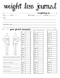 body measurements log