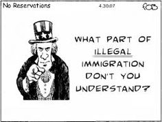 change it to law breaker IMMIGRANT  Sometimes, I feel as thoughI'm in an episode of The Twilight Zone, mixed with a twisted Groundhog Day, being forced to suffer some kind of eternal punishment.