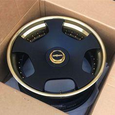 "#Rotiform_Wheels 22"" WLD's  Gold n' Black"