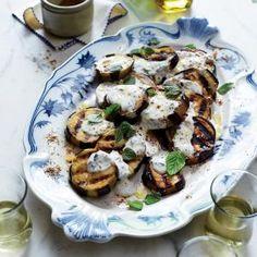 Grilled Eggplant with Moroccan Spices (Aubergines à la Marocaine)   MyRecipes.com #myplate #veggies #dairy