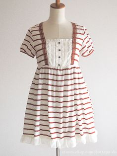 Axes Femme OP Dress White x Brown Classic lolita SizeM Japan #AxesFemme #Peplum…