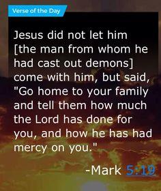 Mark 5:19