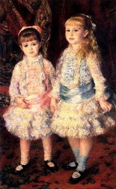 Museu do Louvre. Quadros de Renoir. Rosa e Azul é um retrato das filhas do banqueiro Louis Raphael Cahen d'Anvers.