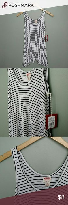 Striped tank NWT! NwT! Black and white striped tank Mossimo Supply Co. Tops Tank Tops