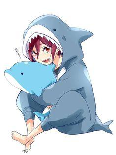 Free! | Shark | Child Rin | Rin Matsuoka | kawaii