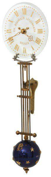 Rare Houdin Glass Dial Mystery Swinger Clock : Lot 44