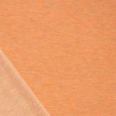Heather Orange Cotton French Terry Knit Fabric - A Girl Charlee designer overstock score!  A pretty heather gray orange cotton spandex blend french terry knit.  French terry has a smooth jersey top side and a very low terry pile on bottom side of fabric with a smooth, tight hand, nice drape, and good 4 way stretch, light to medium weight.  ::  $7.50