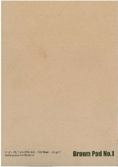 Brun A4 blok nr. 1, 90gram kraftpapir