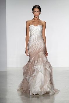 ombre dress in blush   Gown by Kelly Faetanini